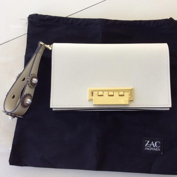 ZAC Zac Posen Eartha Relaxed Wristlet seagull ZP2121